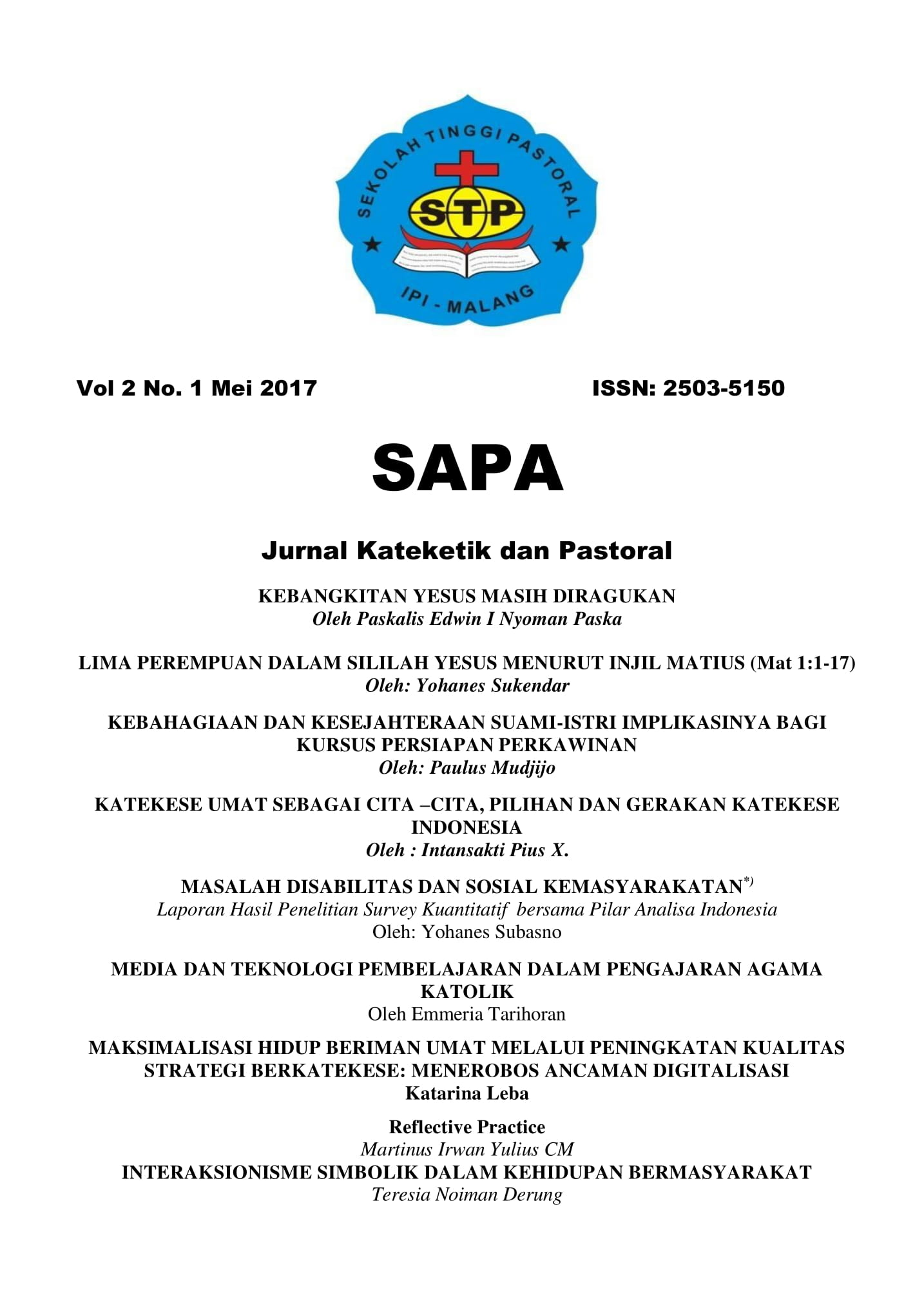 SAPA volume 2 number 1