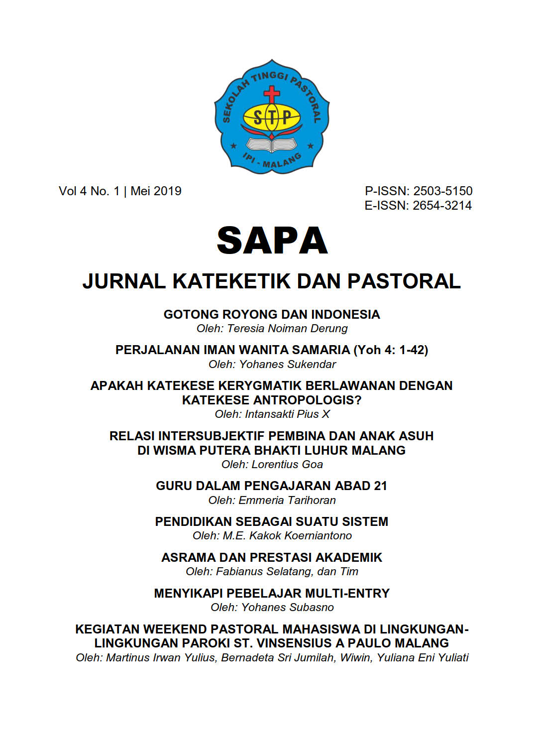 SAPA volume 4 number 1