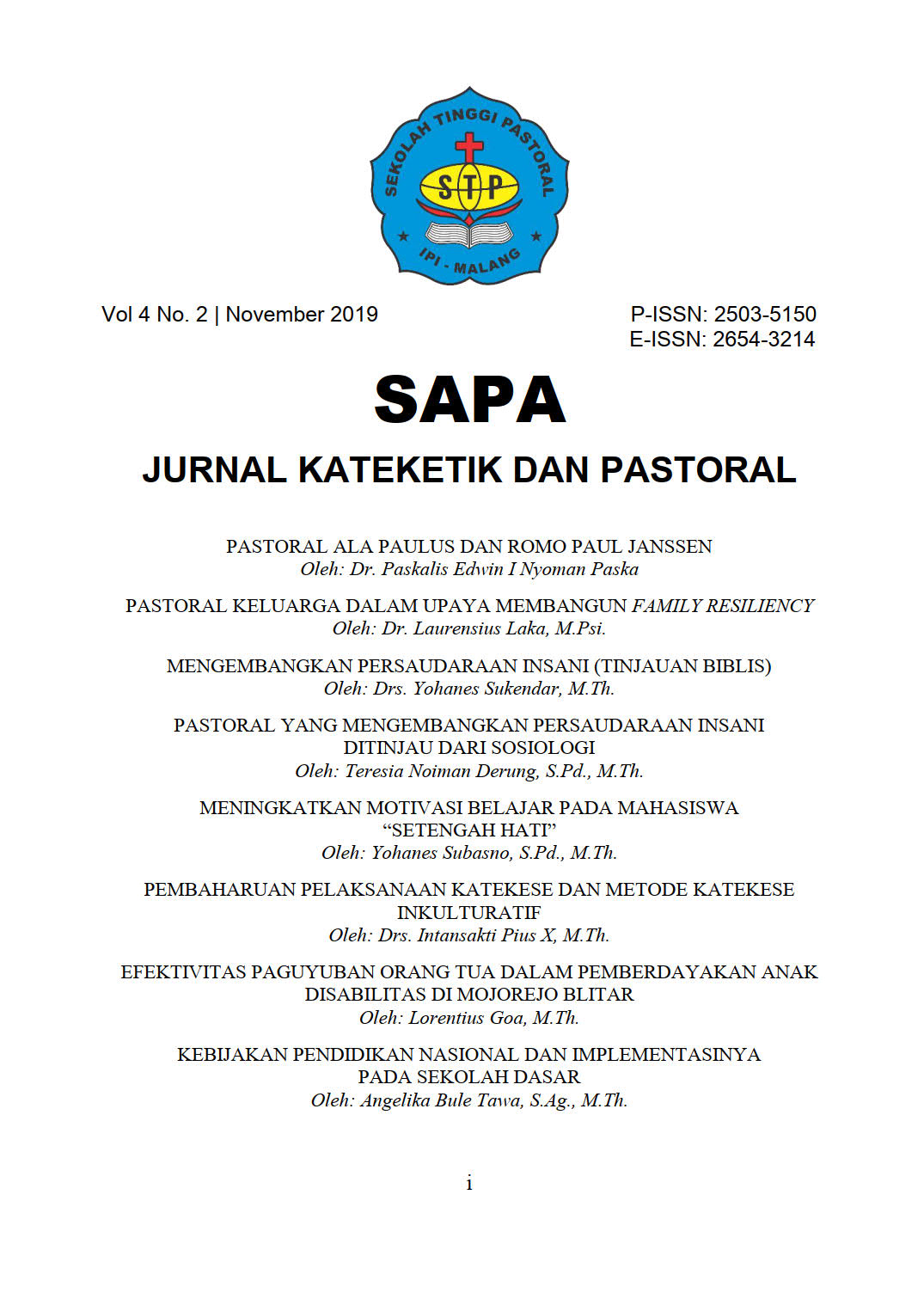 SAPA volume 4 number 2