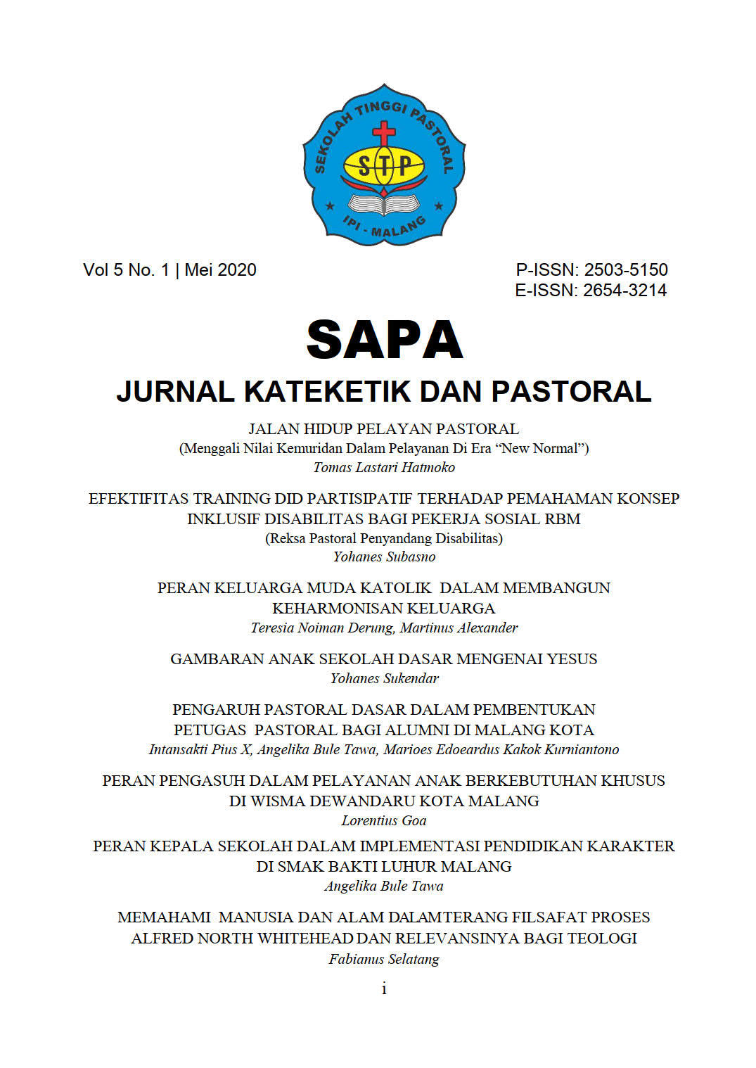 SAPA volume 5 number 1